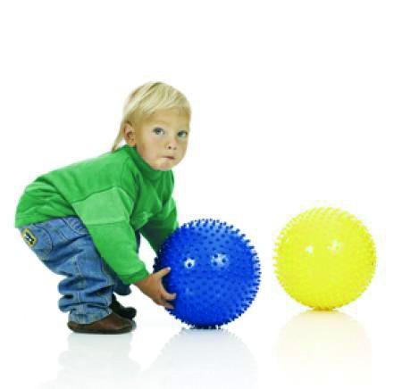Noppen-Fanglernball blau